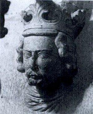 Skulptur av Håkon Håkonssons hode. Nidarosdomen. Bilde.