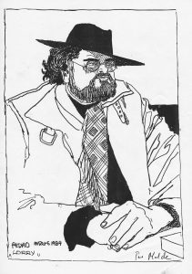 "Pedro 1984, ""Lorry"". Tegning."