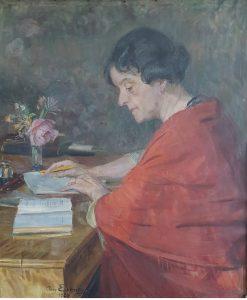 Maleri. Malt i 1927 av August Eiebakke (1867-1938)