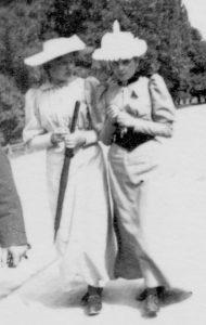 Sammen med Mimi Just, 1893 antakelig i Oslo