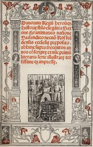 Bilde av Omslaget til Christiern Pedersens utgave, Paris 1514, offentlig eiendom.