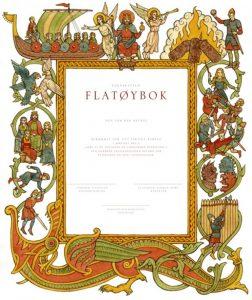 Bilde: Flatøybok er oversatt av Edvard Eikill og illustrert av Anders Kvåle Rue. Bind 3 kom i 2016