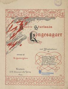 Foto: Tittelbladet til Gustav Storms Heimskringla (1899)