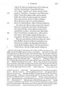 Bilde: Slutten av 7. og begynnelsen av 8. bok i M. L. Wests utgave av Iliaden, Berlin 1998. Det kritiske apparatet nederst er svært omfattende.