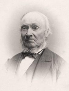 Foto av Ivar Aasen 1871. Foto: Carl Christian Wischmann, Oslo museum.