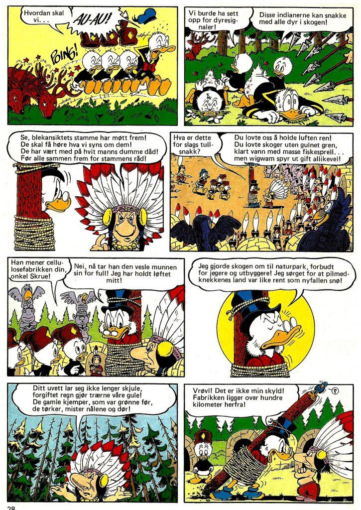 Dyrkorns versjon av Don Rosa-historien, «Pelldegvekk-krigen», fra Donald Duck & Co 46/1991